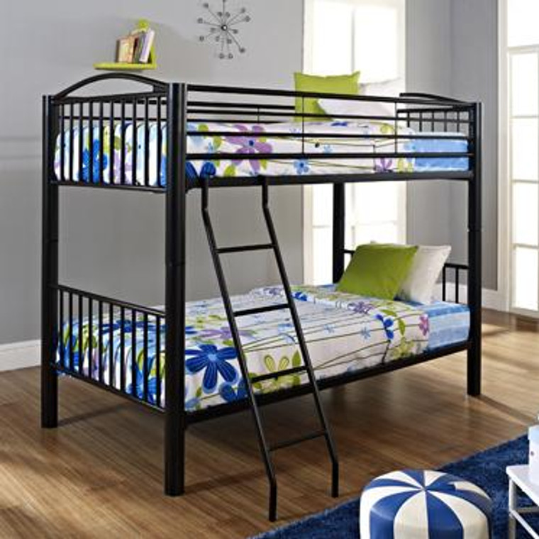Heavy Metal Twin-Over-Twin Bunk Bed - Black 938-138 by Powell
