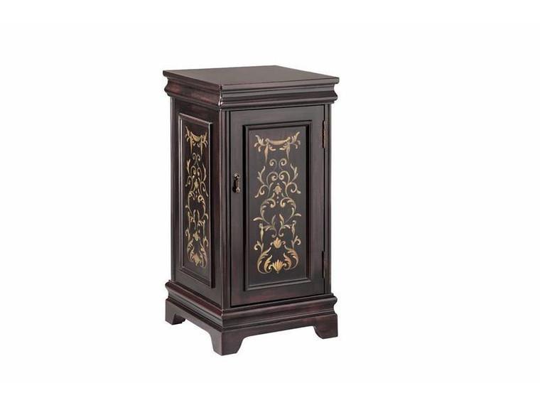 Stein World Harper 1 Door Wine Cabinet In Bistro Finish 12850