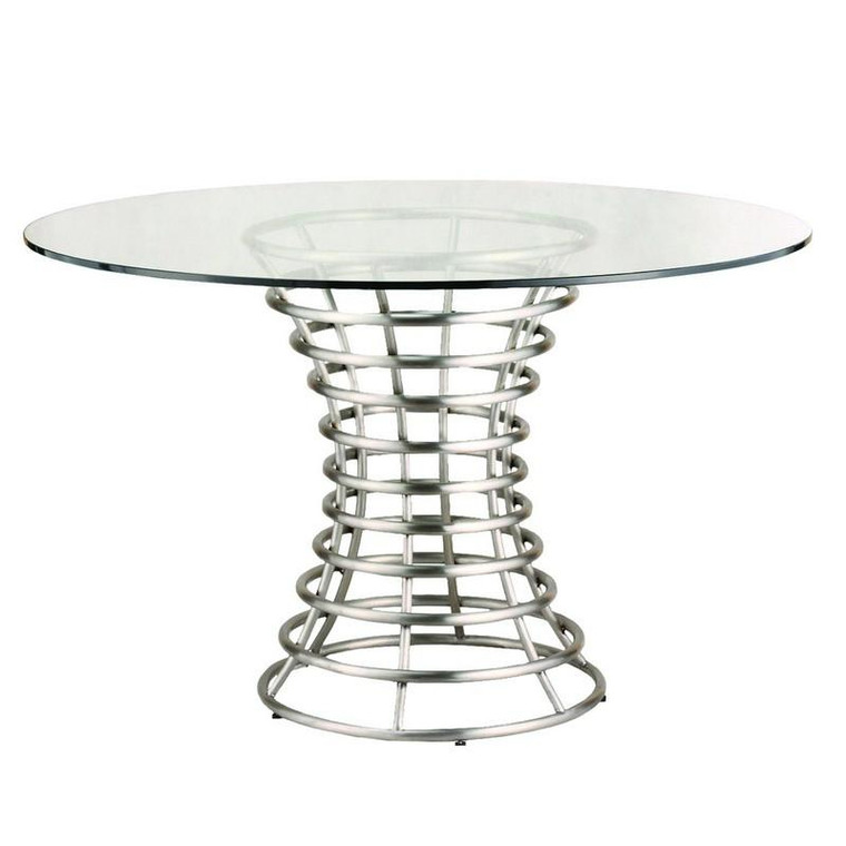 "Armen Living Ibiza Brushed Stainless Steel Dining Table LCIBDIB201 ""Special"""