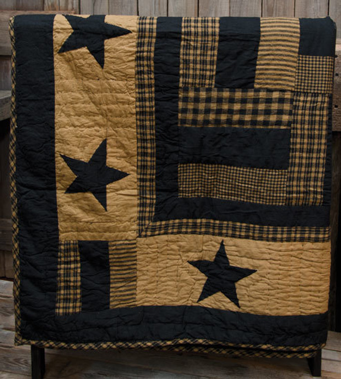 Delaware Star Quilted Throw G13816 By CWI Gifts