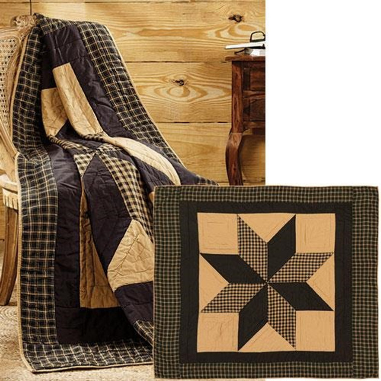 Dakota Star Quilted Throw, 60X50 G19828 By CWI Gifts