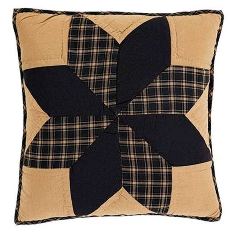 """Dakota Star Quilted Pillow, 16"""" G32910 By CWI Gifts"""