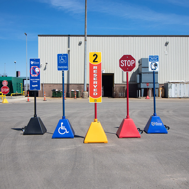 Bollard Company's Pyramid Sign Base options