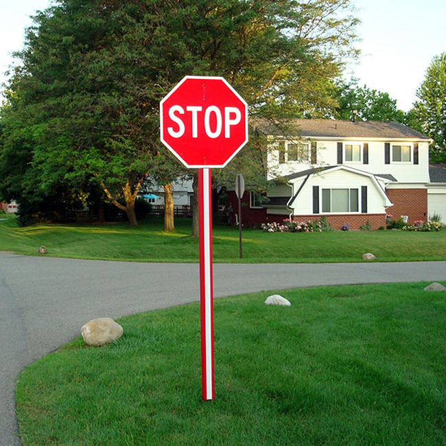 U-channel stop sign post cover