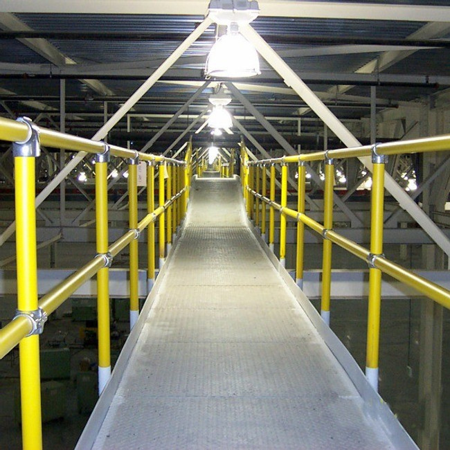 Steel Pipe and Plastic Handrail is perfect for mezzanine railing and catwalk railing