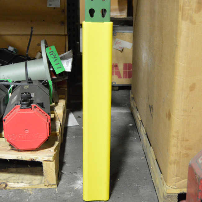 Plastic Rack Guard protecting pallet racking