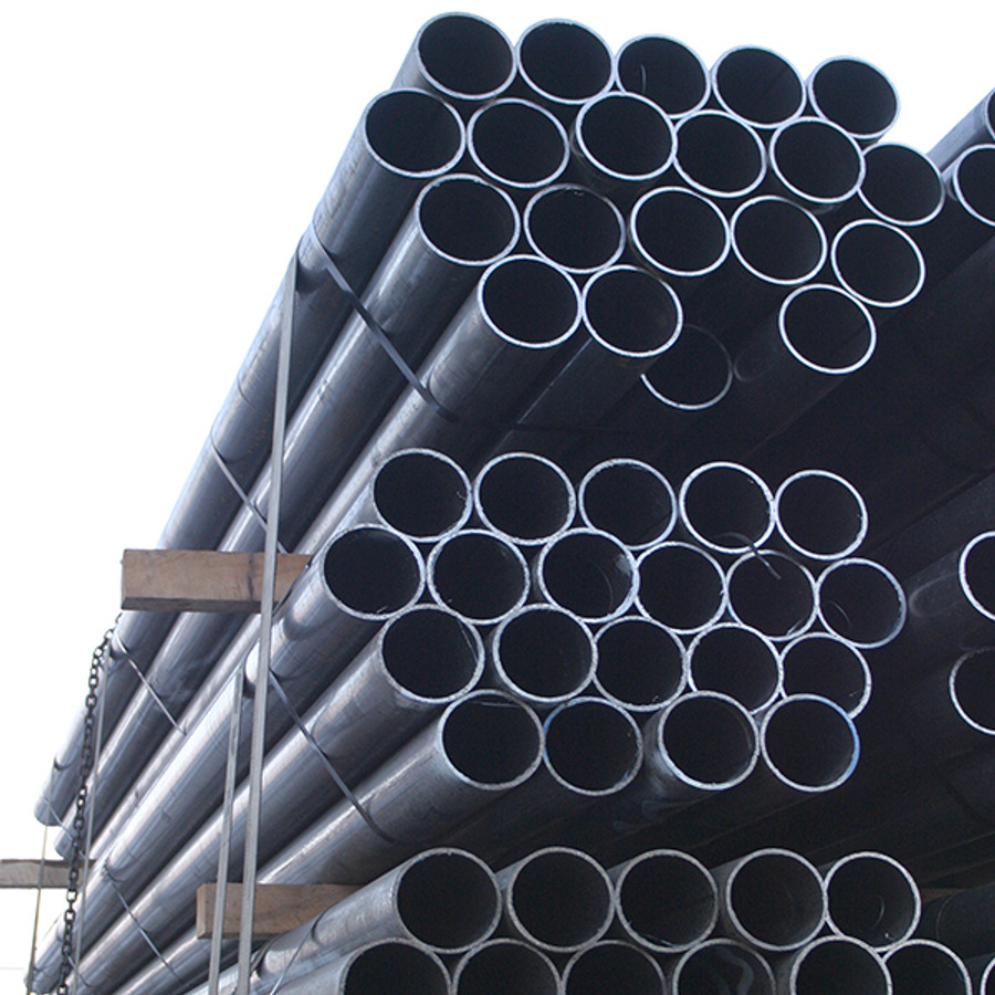 Steel pipe bollard posts