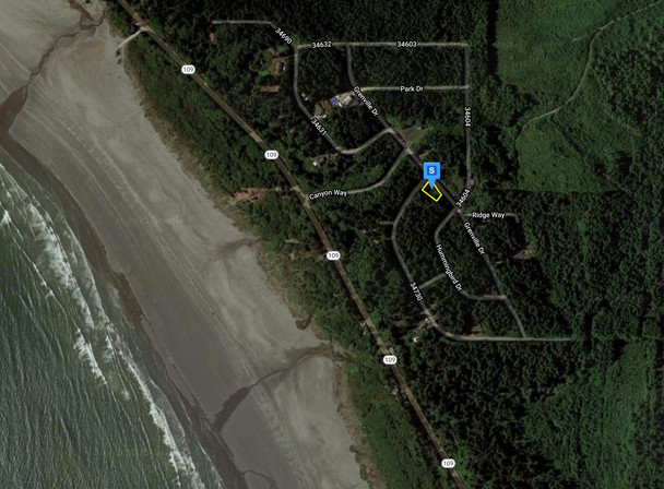 Distance to beach from lot