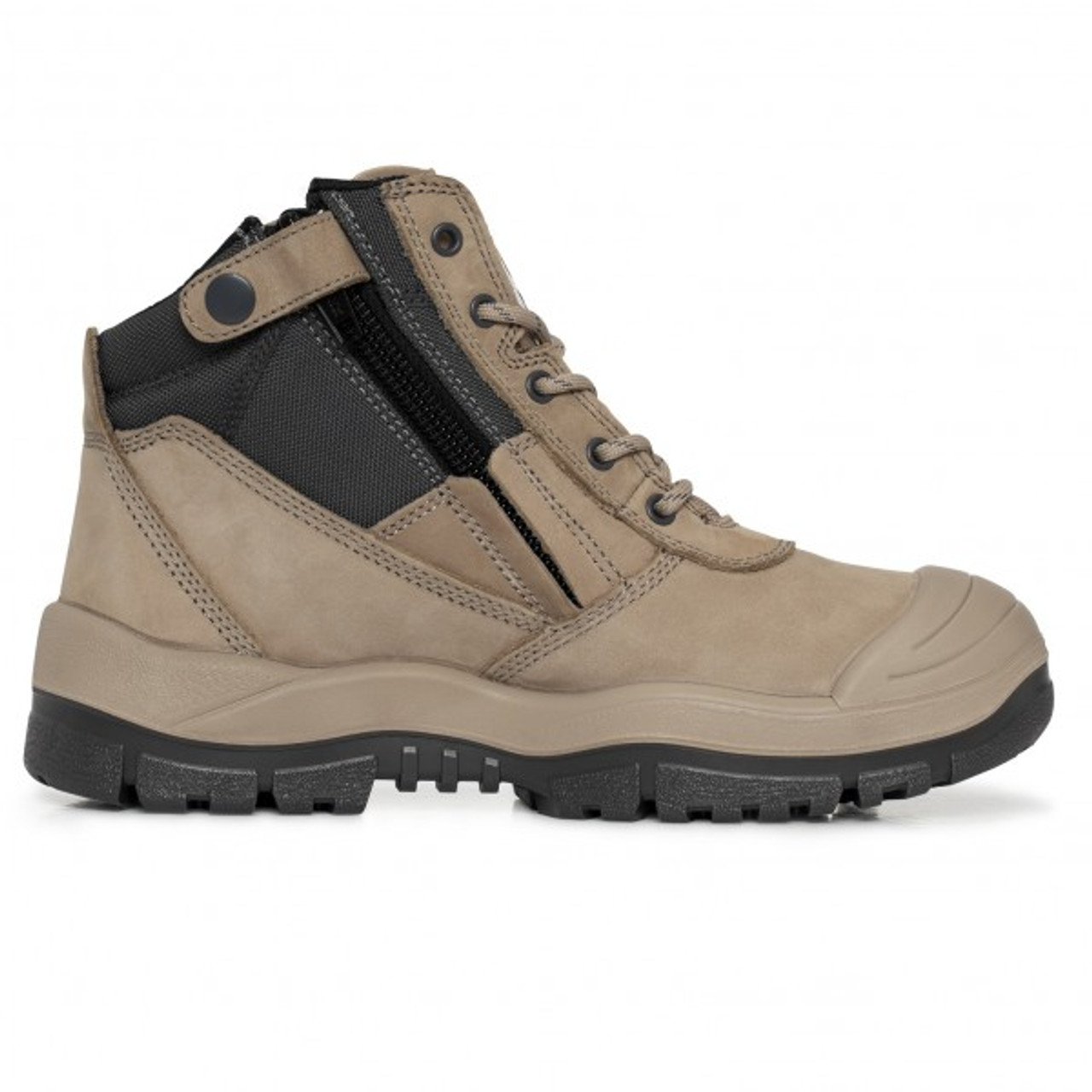 05b8f87c670 Mongrel 461060 Zip Side Safety Boot With Scuff Stone