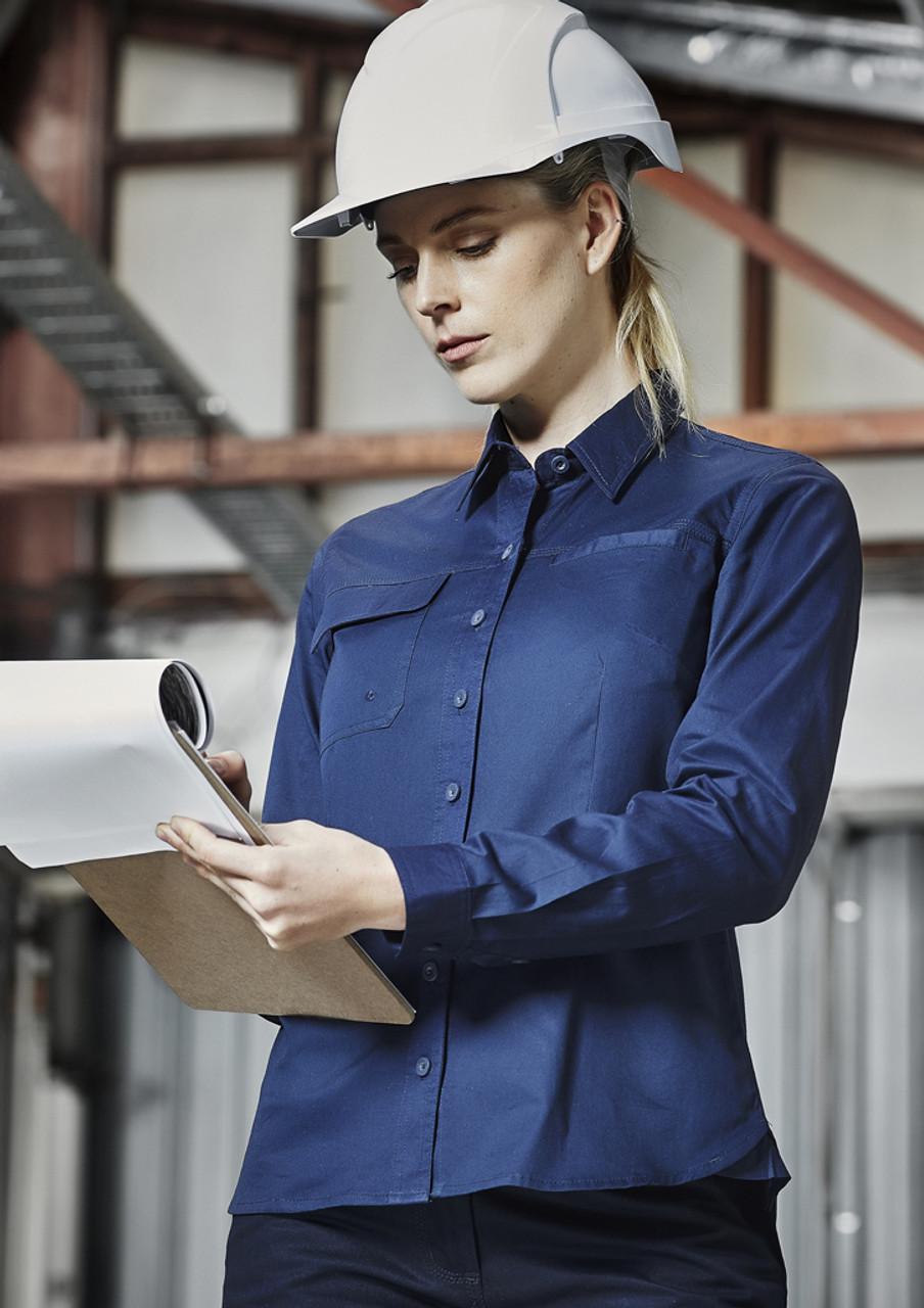 ZWL121 WOMENS LIGHTWEIGHT TRADIE L S SHIRT - Entire Workwear 284245441