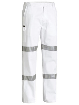 3M TAPED COTTON DRILL WHITE WORK PANT BP6808T