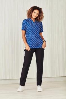 Womens Easy Stretch Daisy Print Tunic CS950LS