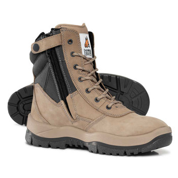 MONGREL 251060  STONE SIDE ZIP HIGH LEG SAFETY BOOT