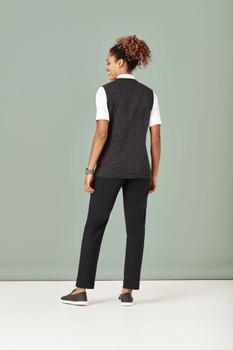 Womens Button Front Knit Vest CK961LV