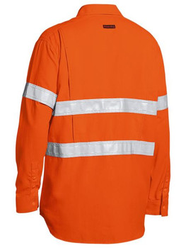 TENCATE TECASAFE® PLUS 480 TAPED HI VIS LIGHTWEIGHT FR VENTED LONG SLEEVE SHIRT BS8238T