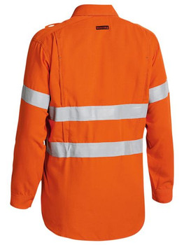 TENCATE TECASAFE® PLUS 580 TAPED HI VIS LIGHTWEIGHT FR VENTED LONG SLEEVE SHIRT BS8097T