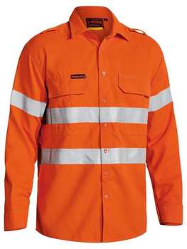 TENCATE TECASAFE® PLUS 700 TAPED HI VIS FR VENTED LONG SLEEVE SHIRT BS8081T