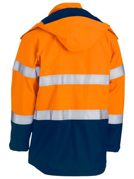 TAPED TWO TONE HI VIS FR WET WEATHER SHELL JACKET BJ8110T