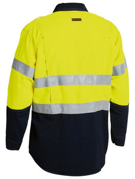 TENCATE TECASAFE® PLUS 700 TAPED TWO TONE HI VIS FR VENTED LONG SLEEVE SHIRT BS8082T