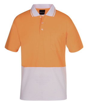 ADULTS AND KIDS HI VIS NON CUFF TRADITIONAL POLO 6HVNC