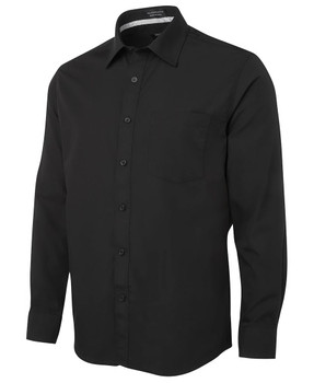 L/S CONTRAST PLACKET SHIRT 4PCSL