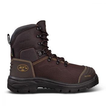 65-490 150MM BROWN LACE UP BOOT - WATERPROOF & CAUSTIC RESISTANT