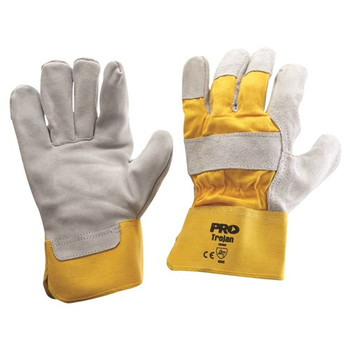 ProChoice® Yellow/Grey Leather Gloves Large 940GY pk12