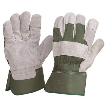 ProChoice® Green Cotton / Leather Gloves Large R99KG pk 12