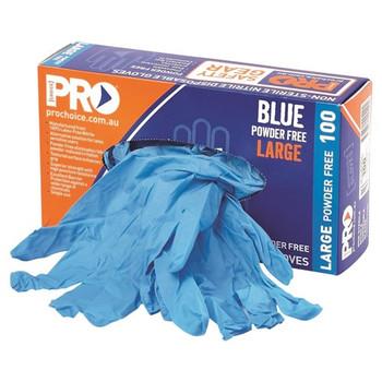 ProChoice® Disposable Blue Nitrile Powder Free Gloves MDNPF 10 box