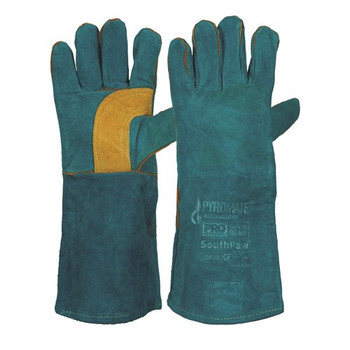 ProChoice® Pyromate® South Paw® Left Hand Pair -Green & Gold Kevlar® Glove Green LGW16E 6pk