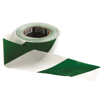 ProChoice® Barricade Tape - 100m x 75mm Green & White GW10075