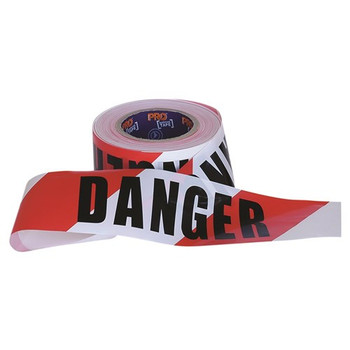 ProChoice® Barricade Tape - 100m x 75mm DANGER Print DT10075