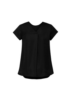 Womens Kayla V-neck Pleat Blouse RB967LS