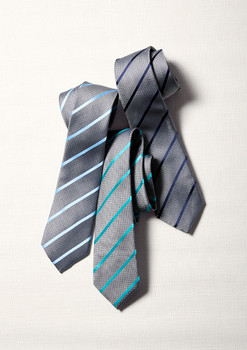 Mens Single Contrast Stripe Tie 99102