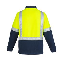 ZT462 HI VIS Half Zip Polar Fleece Jumper- Shoulder Taped