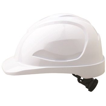 Pro Choice Safety Gear V9 Hard Hat Unvented Ratchet Harness HH9R White