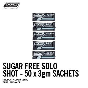 THORZT Sugar Free Solo Shot - 50 x 3gm Sachets - Blue Lemonade SSSFBL