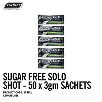 THORZT Sugar Free Solo Shot - 50 x 3gm Sachets - Lemon Lime SSSFLL