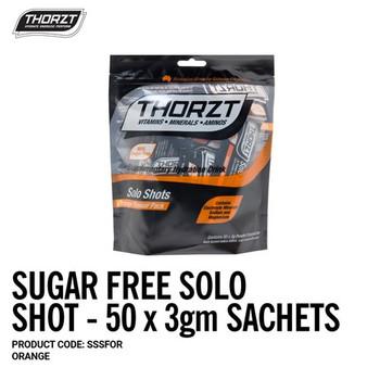 THORZT Sugar Free Solo Shot - 50 x 3gm Sachets - Orange SSSFOR