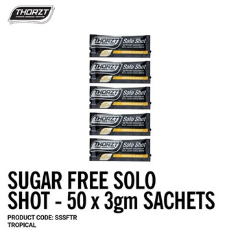 THORZT Sugar Free Solo Shot - 50 x 3gm Sachets - Tropical SSSFTR