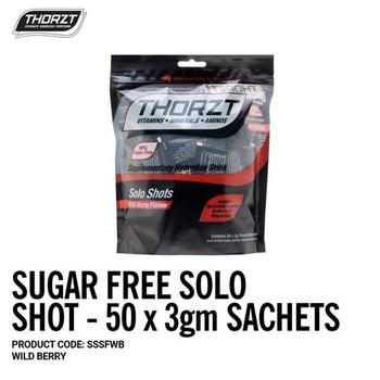 THORZT Sugar Free Solo Shot - 50 x 3gm Sachets - Wild Berry SSSFWB
