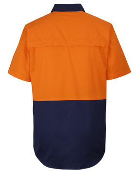 HI VIS CLOSE FRONT S/S 150G WORK SHIRT 6HVCW
