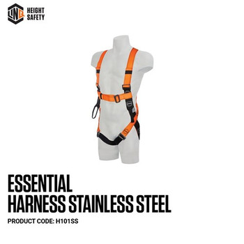 LINQ Essential Harness Stainless Steel (M - L) H101SS