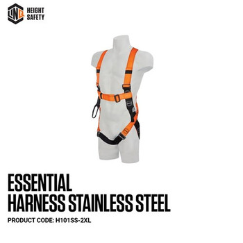 LINQ Essential Harness Stainless Steel - Maxi (XL-2XL) H101SS-2XL