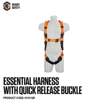 LINQ Essential Harness with Quick Release Buckle - Standard (M - L) H101QR