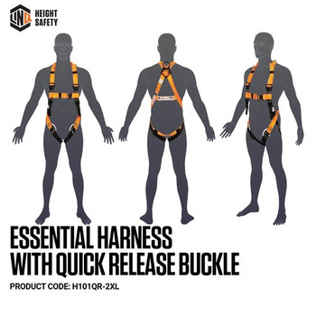 LINQ Essential Harness with Quick Release Buckle- Maxi (XL-2XL) H101QR-2XL