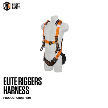 LINQ Elite Riggers Harness - Standard (M - L) cw Harness Bag (NBHAR) H301