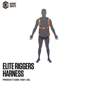 LINQ Elite Riggers Harness- Maxi (XL-2XL) cw Harness Bag (NBHAR) H301-2XL