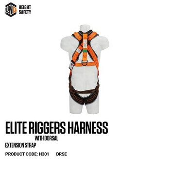 LINQ Elite Riggers Harness With Dorsal Extension Strap cw Harness Bag (NBHAR) H301-DRSE