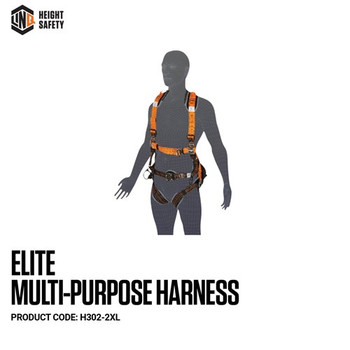 LINQ Elite Multi-Purpose Harness - Maxi (XL-2XL) cw Harness Bag (NBHAR) H302-2XL